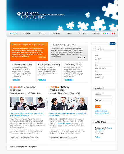 White Consulting Drupal Theme by Mercury TMT