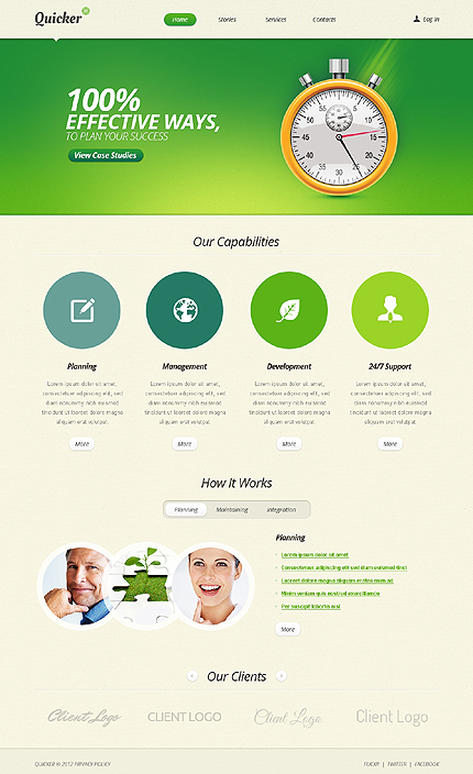 White & Green IT WordPress Theme by Astra TMT