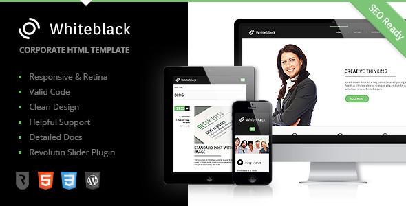 WhiteBlack - Premium Business HTML5 Template