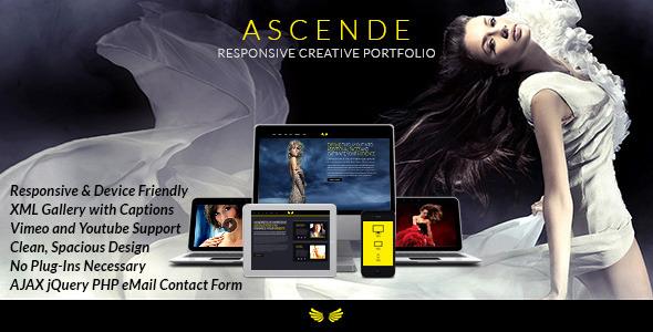 Ascende Responsive Photo & Video Portfolio Gallery