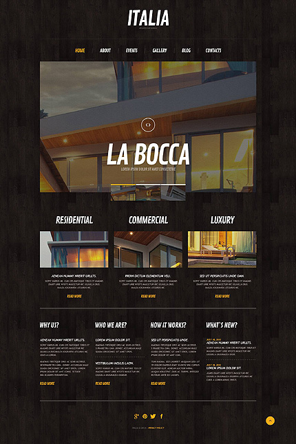 Black & Brown Architecture WordPress Template by Cowboy WordPress  TMT