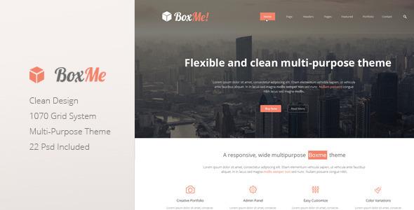 Boxme - Clean Multipurpose Corporate Theme