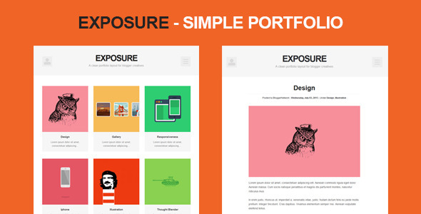 Exposure - Simple portfolio Blogging
