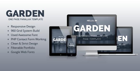 Garden - Responsive Parallax One Page Template