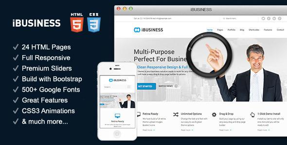 IBUSINESS - Responsive Multi-Purpose HTML 5