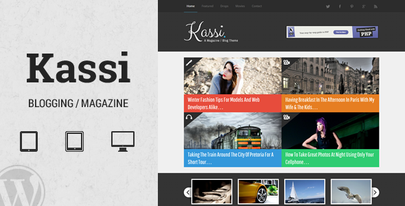 Kassi - WordPress Blogging Theme