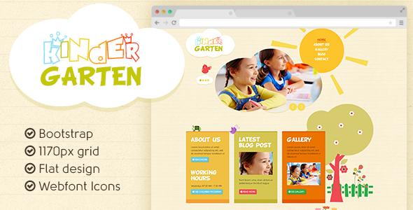 Kindergarten - Bootstrap flat template