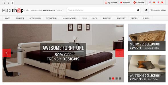 Maxshop - Premium eCommerce PSD Template