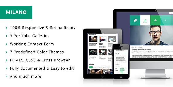 Milano   Interactive Responsive HTML5 Template