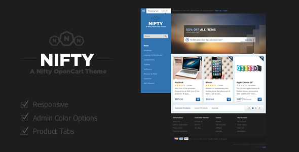 Nifty - Opencart Theme  OpenCart