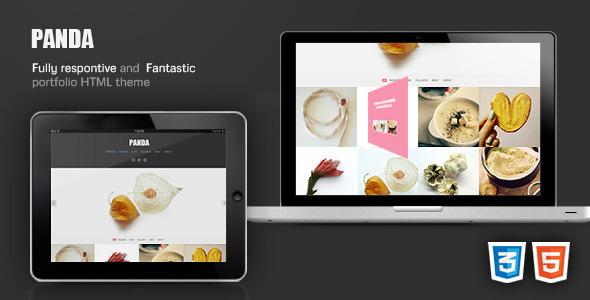 Panda Responsive Portfolio / Magazine HTML theme