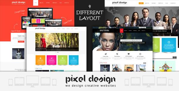 Pixel Design Responsive Theme SiteTemplates
