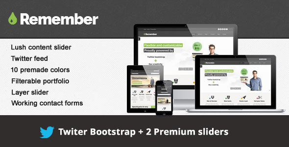 Remember - Responsive multipurpose site template