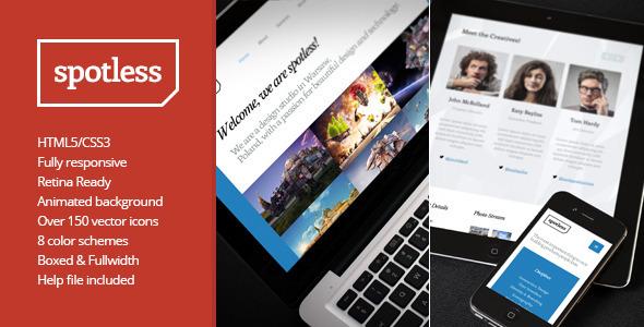 SPOTLESS Minimal Portfolio Site Template
