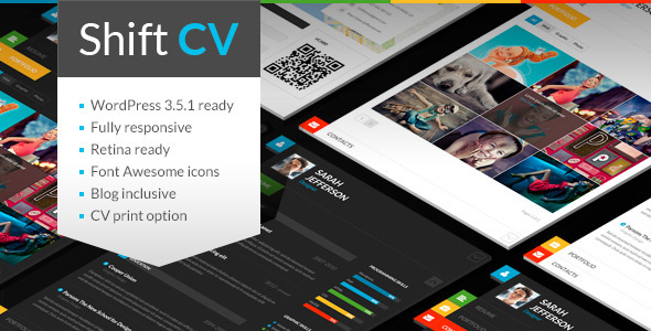 ShiftCV - Blog  Resume  Portfolio  WordPress