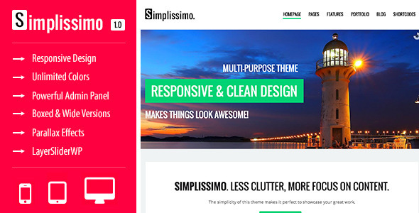 Simplissimo - A Clean Multi-Purpose Theme