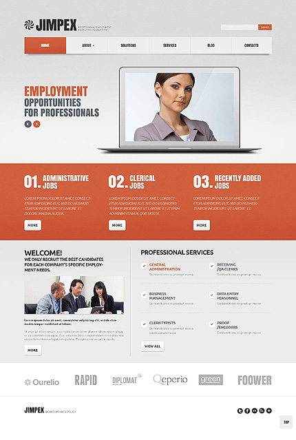 White & Grey Public Relations WordPress Theme by Sawyer WordPress  TMT