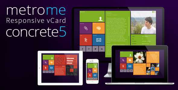 metroMe – Concrete5 Responsive vCard Theme