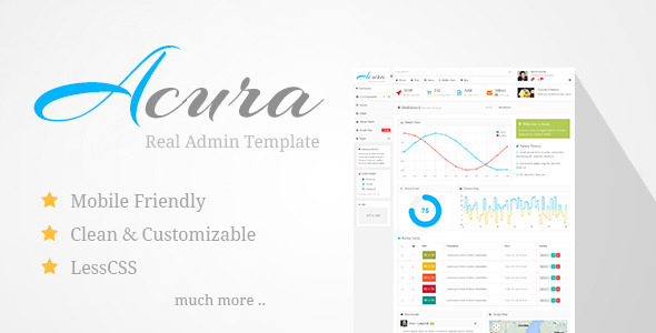 Acura - Real Admin Template SiteTemplates