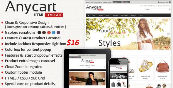 Anycart - Responsive Retail Template