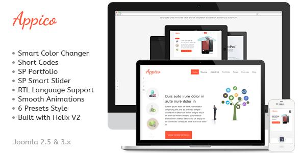 Appico - Responsive Joomla App Template
