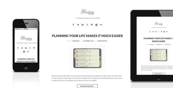 Bloggy - Responsive Minimalist Template