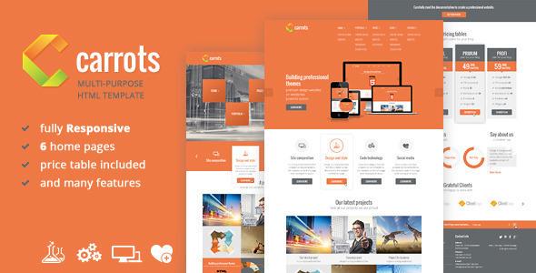 Carrots - Multipurpose Responsive HTML Template