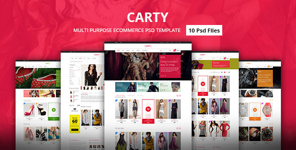 Carty - Premium E-commerce PSD Template
