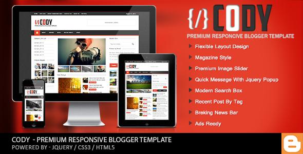 Cody - Responsive Magazine Blogger Template