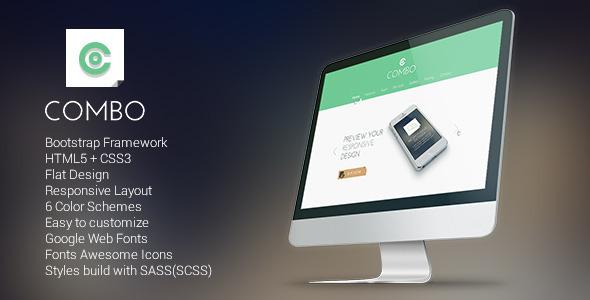 Combo - Responsive Flat Landing Page