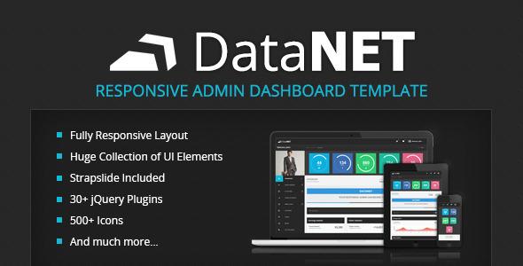 DataNET - Responsive Admin Dashboard Template