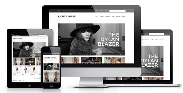 Eight Three - Responsive Shopify Theme