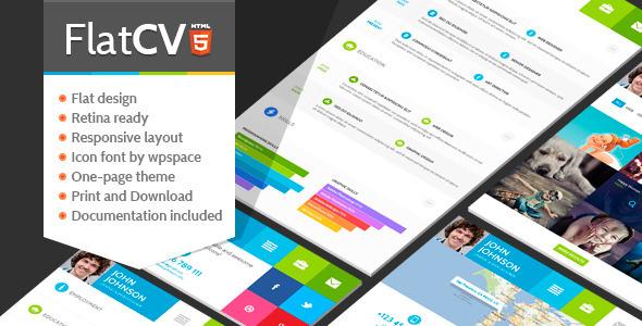 FlatCV - Resume  Portfolio  HTML5