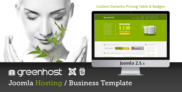 GreenHost - Business & Hosting Joomla Template