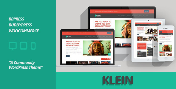 Klein - A Community WordPress Theme
