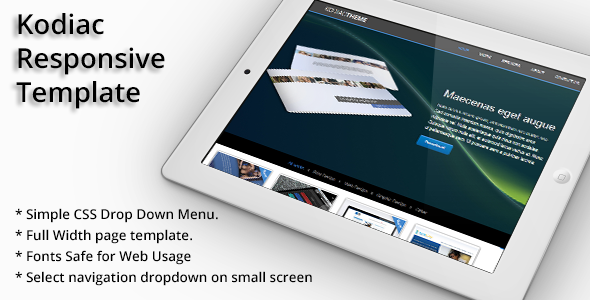Kodiac Onepage Responsive HTML5& CCS3 Template