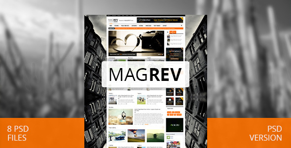 Magrev: Magazine & Corporate PSD Theme