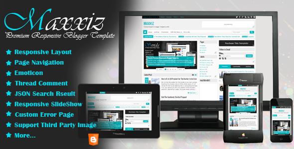 Maxxiz - Responsive Blogger Template