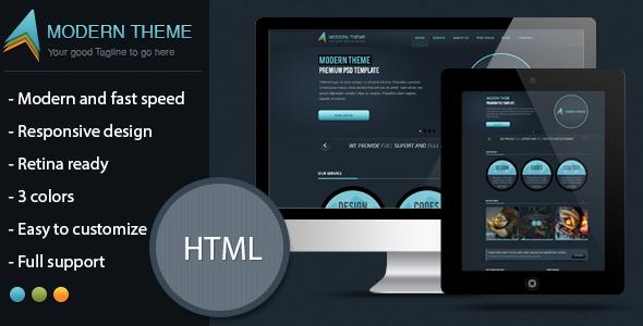 Modern Theme: Responsive HTML Template