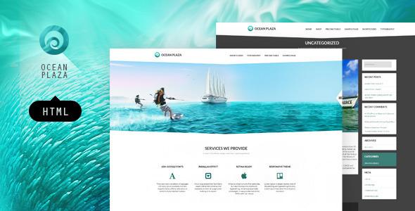 OceanPlaza HTML layout SiteTemplates