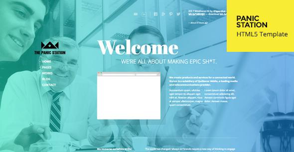 Panic Station > Responsive HTML5 Template