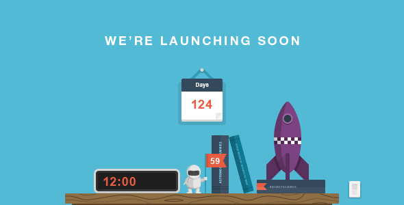 RocketScience - Illustrated Coming Soon Template