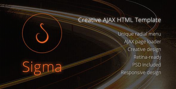 Sigma: Creative AJAX HTML Template