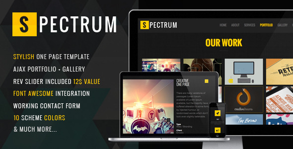 Spectrum - Responsive One Page Template
