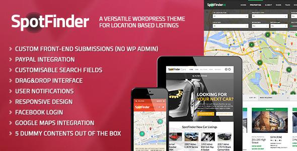 SpotFinder - A Versatile Wordpress Listings Theme
