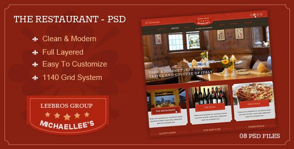 The Classic Restaurant - PSD PSDTemplates