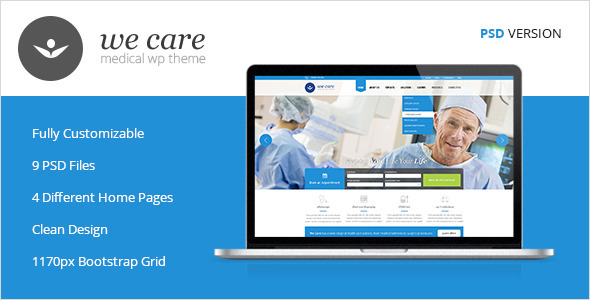 We Care - Premium Medical PSD Template