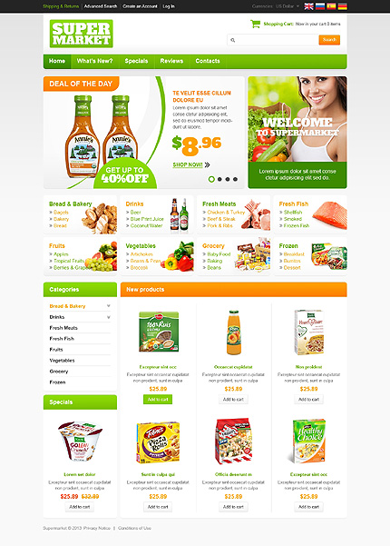 Responsive e commerce templates wordpress theme preview white images for white grocery store oscommerce template by hermes oscommerce tmt maxwellsz