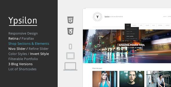 Ypsilon - Responsive Multipurpose HTML5 Template