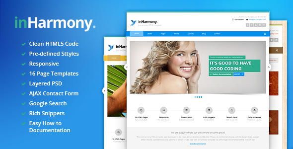 inHarmony - Responsive HTML5 Template
